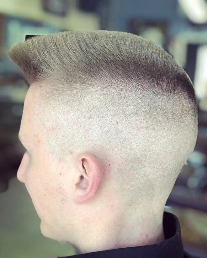 Short Flat Top Quiff Haircut