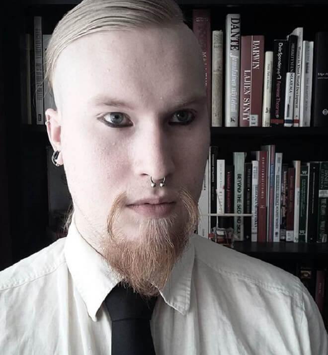 Short Fu Manchu Mustache with Beard