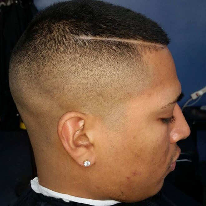 Short Hair On Top With High Skin Fade