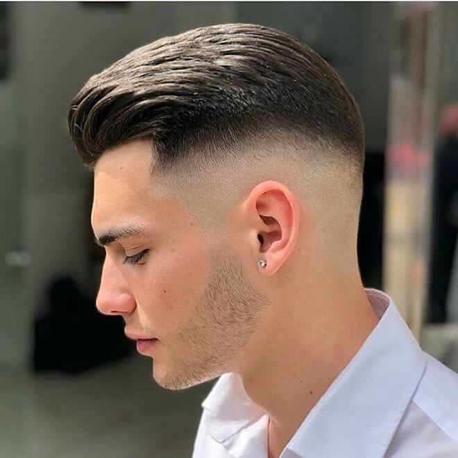 Silk Back with Mid Skin Fade