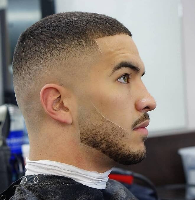 Skin Fade Haircut with Stubble Beard