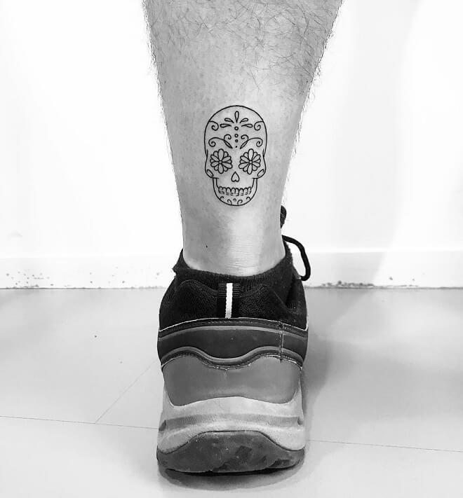 Small Black Work Tattoo