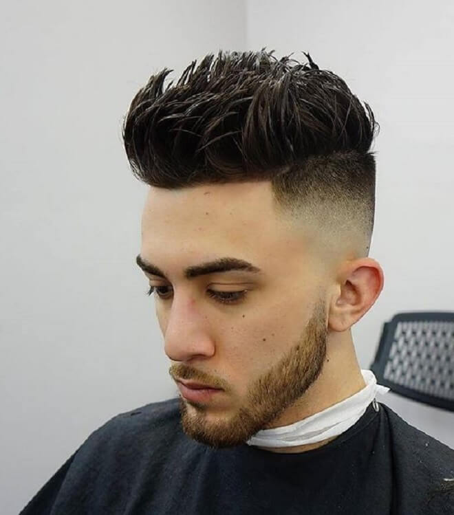 Spiky Hairstyle with Undercut