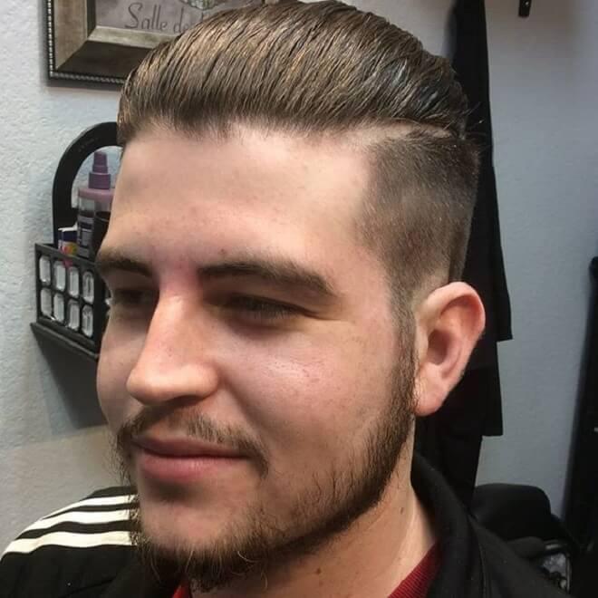 Stubble Beard with Silk Back Haircut