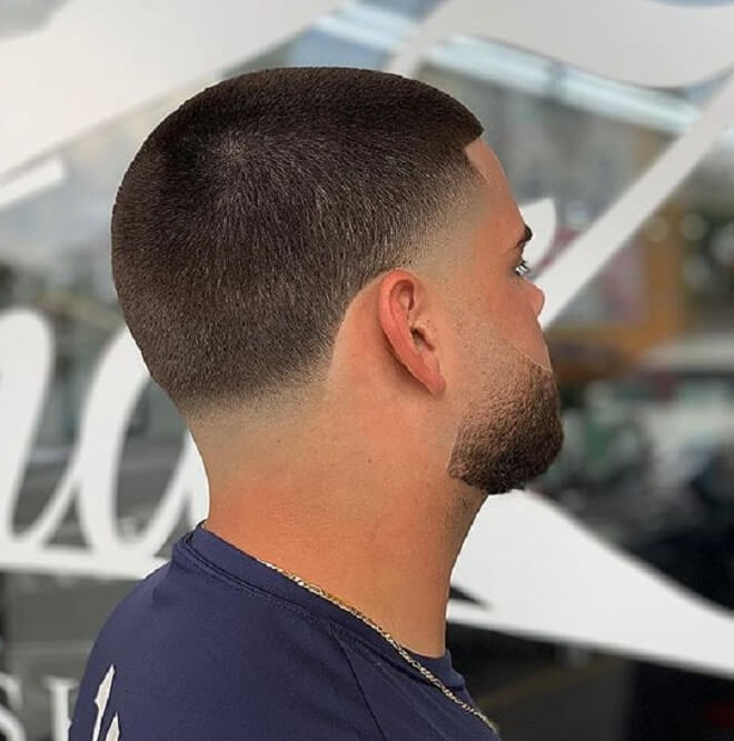 Taper Fade with Buzz Haircut