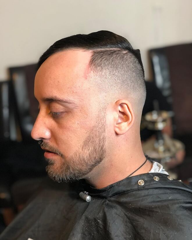 Taper Fade with Side Swept