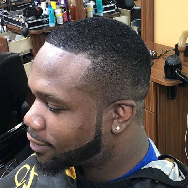 Temp Fade Haircut with Beard Style