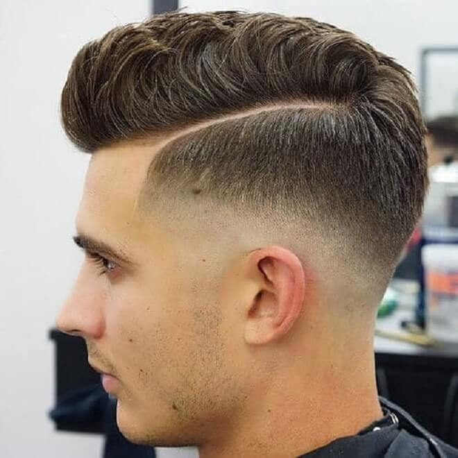 Temp Fade with Comb Over
