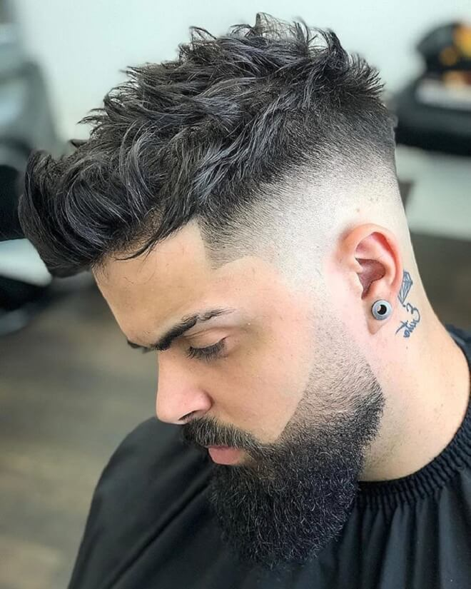 Textured Messy Quiff Hairstyle
