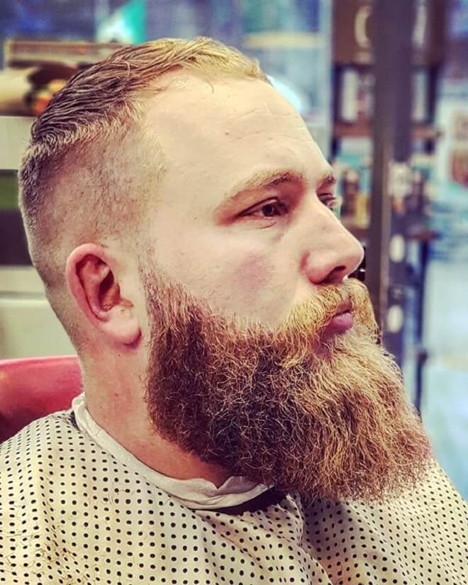 Thick Beard Style with Short Haircut