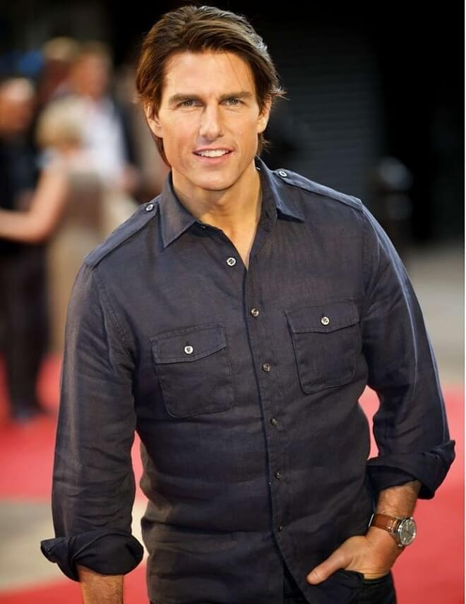 Tom Cruise Long Side Parted Look
