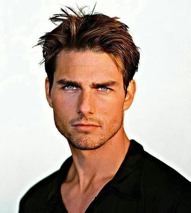 Tom Cruise Short Messy Hairstyle