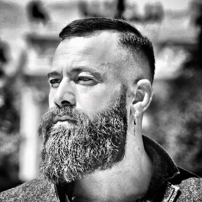 Viking Beard with Short Haircut