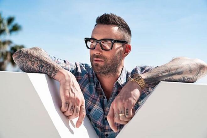 Adam Levine Short Faux Hawk Haircut