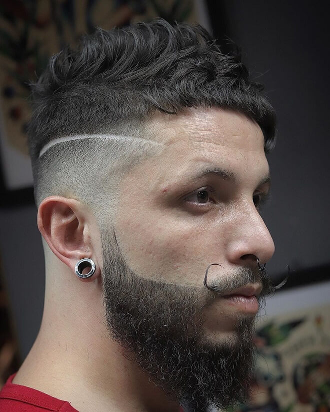 Bald Fade Haircut with Thick Hair