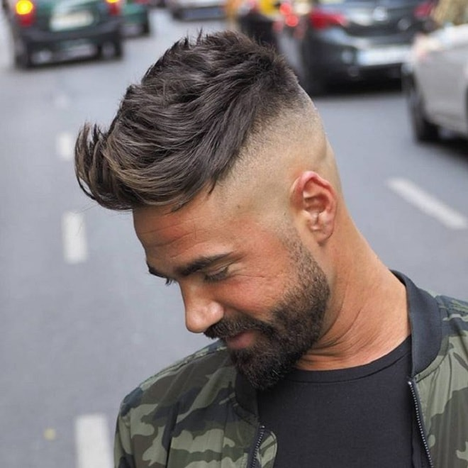 Bald Fade with Quiff