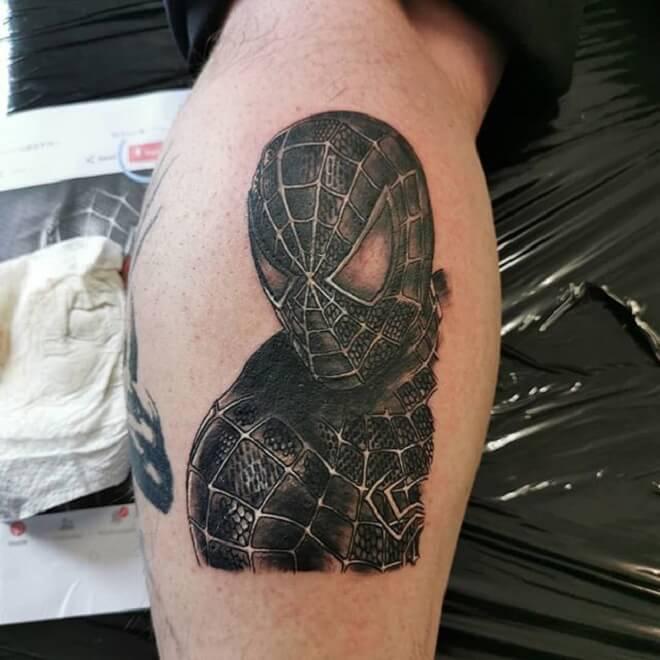 Black Spiderman Tattoo