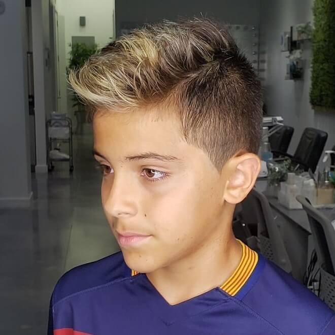 Blonde Spiky Haircut