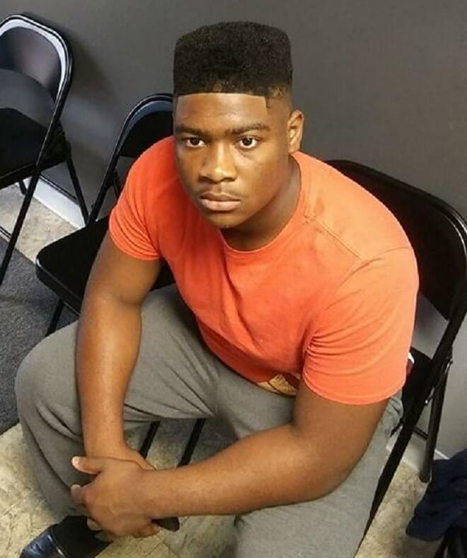 Box Fade with Line Up Haircut