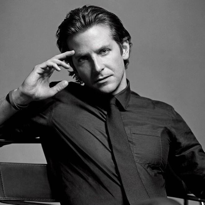 Bradley Cooper Medium Length Wavy Hairstyle