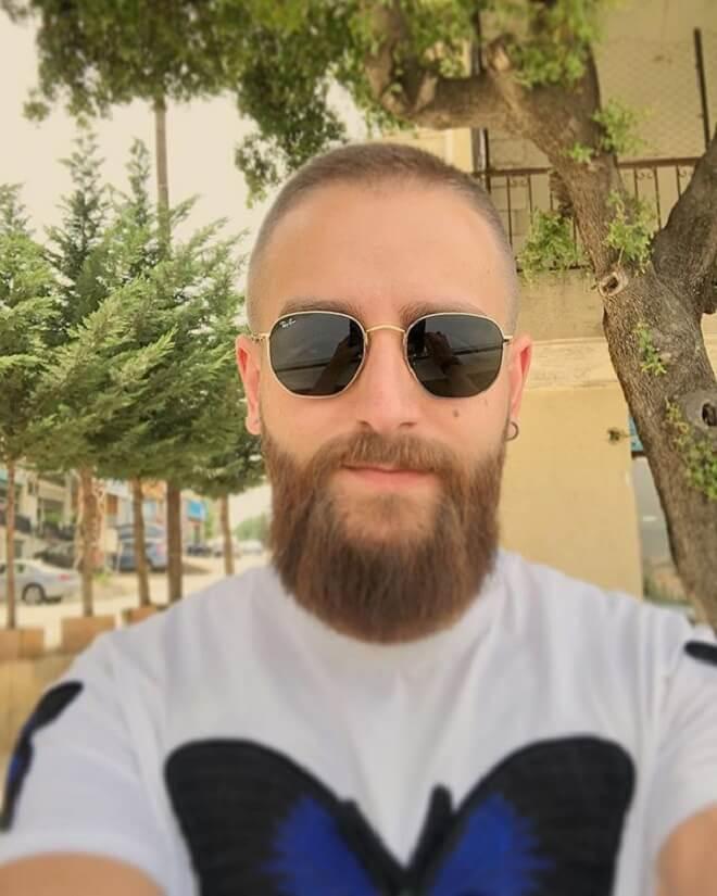 Buzz Cut with Beard Style