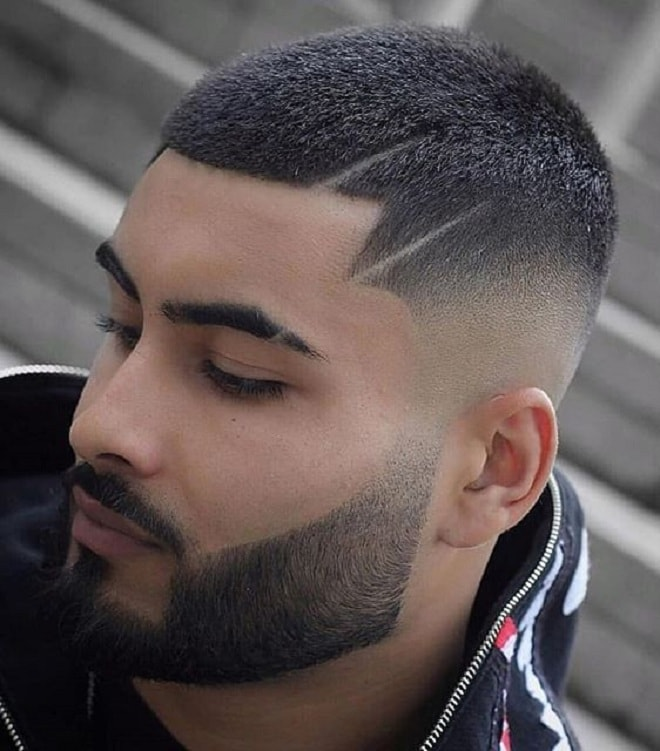 Buzz Cut with Line Up Haircut