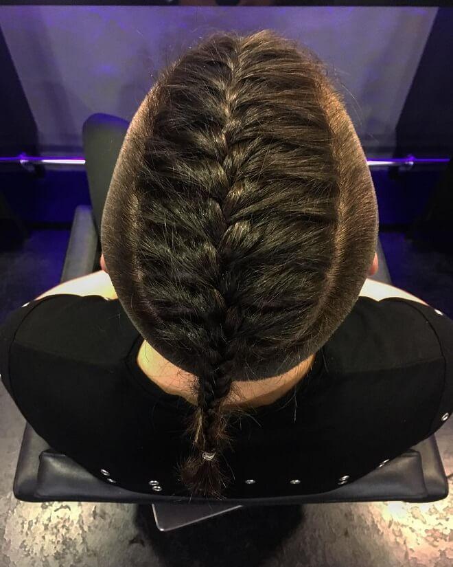 Center Part Braid