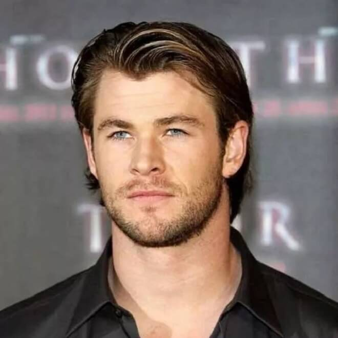 Chris Hemsworth Casual Widow's Peak