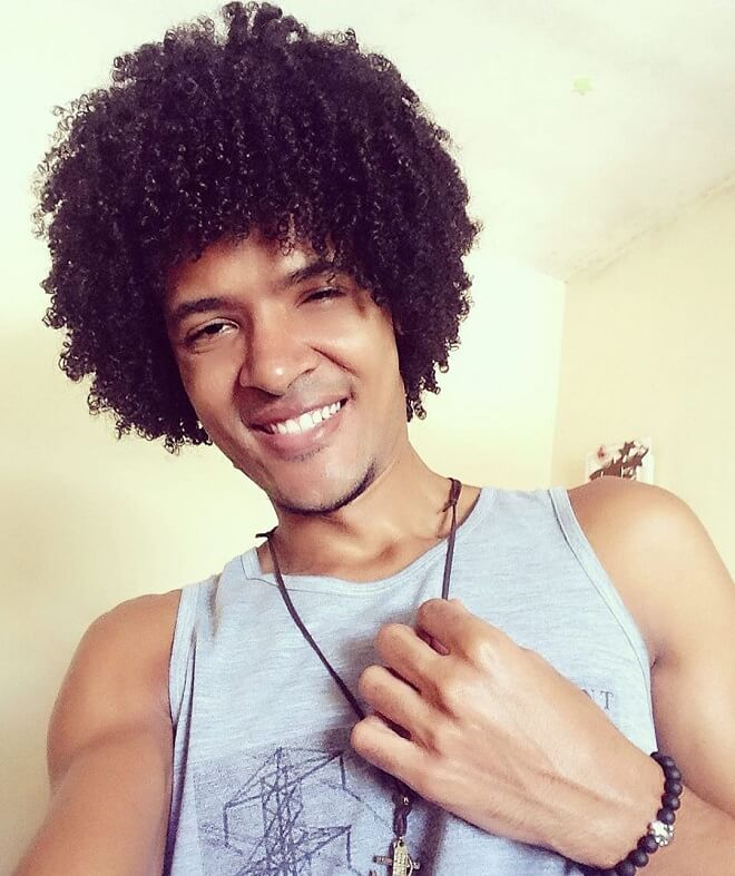 Classic Curly Hairstyles for Black Men