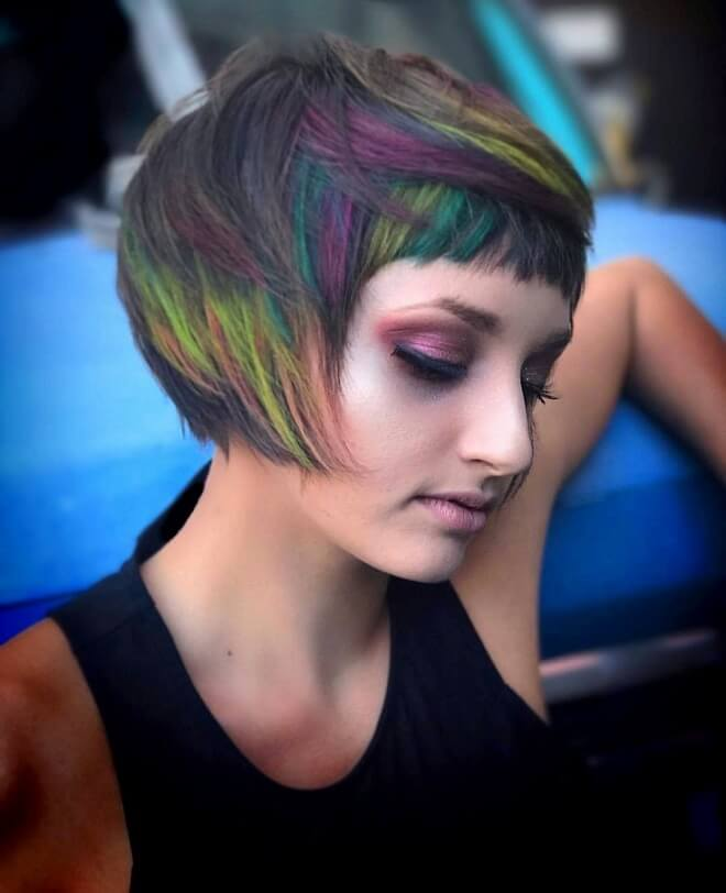 Colored Hair with Short Pixie