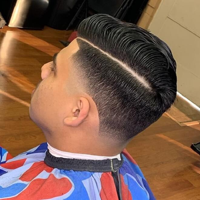 Comb Over Fade with Thick Hair