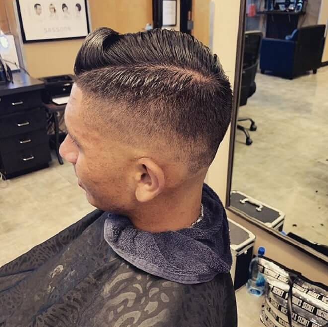 Comb Over Fade with Thin Hair