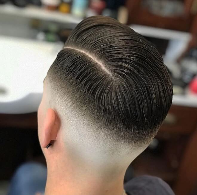 Comb Over with Low Razor Fade Haircut