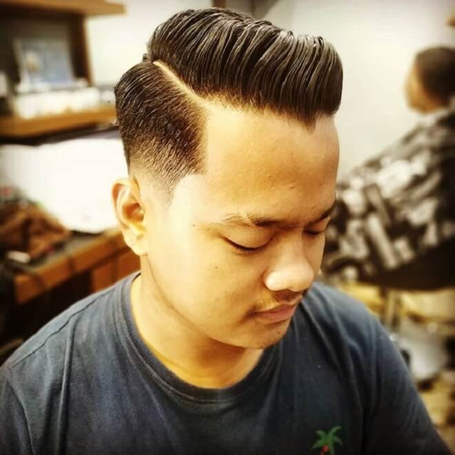 Comb Over with Pompadour