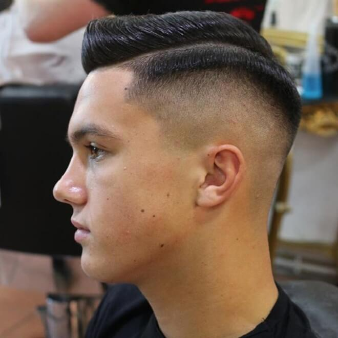 Comb Over with Skin Fade Haircut
