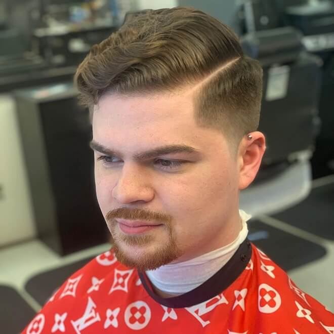 Comb Over with Wavy Hairstyle