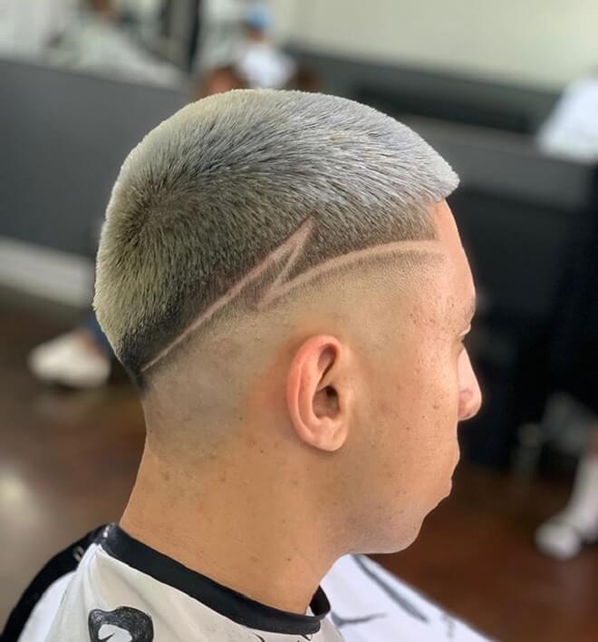 Crew Cut with Haircut Design