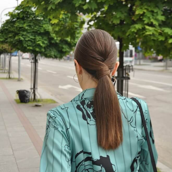 Criss Cross with Small Ponytail