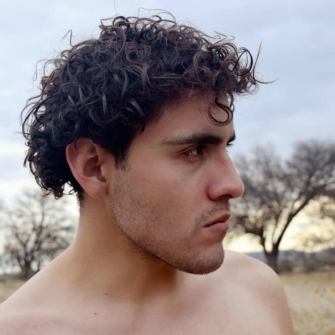 Curly Bowl Cut