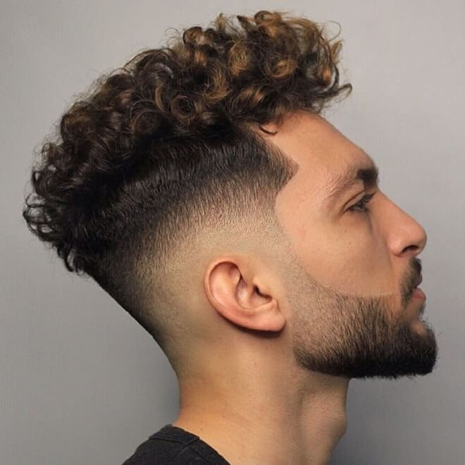 Curly Haircut with Fade