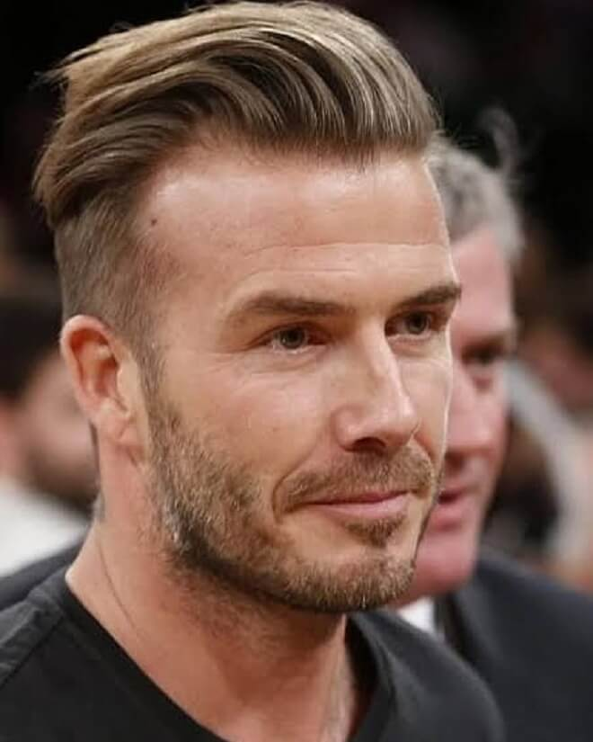 David Beckham Slicked Back Hairstyle