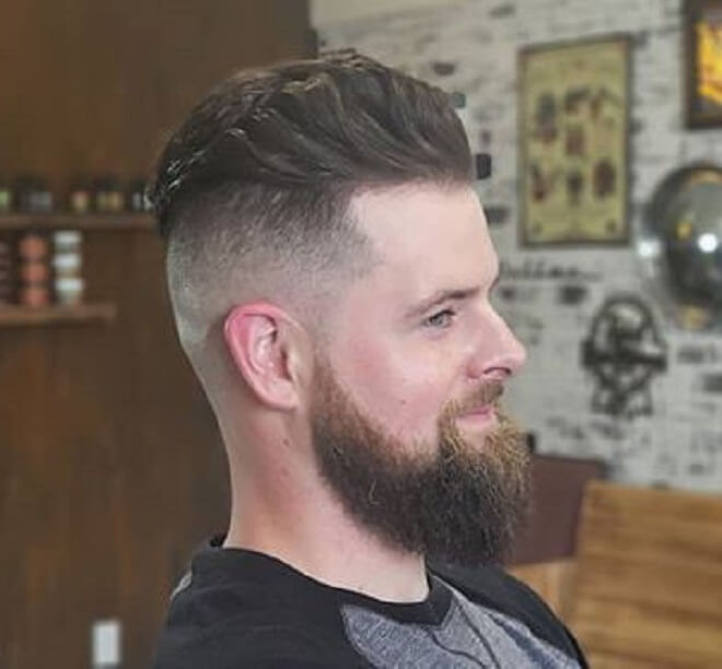 Disconnected Undercut with Beard Style