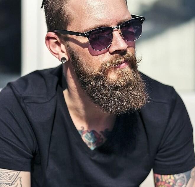 English Mustache with Beard Style