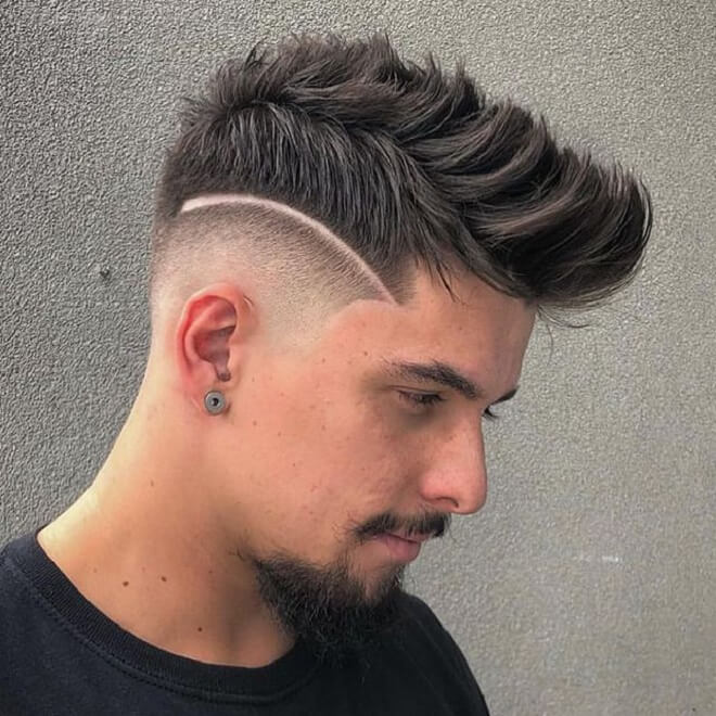 Faux Hawk with Line Haircut