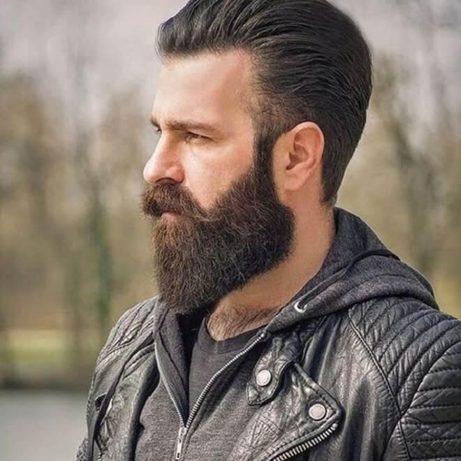 Full Beard with Mustache Style