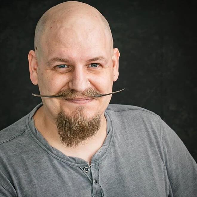 Goatee with Handlebar Mustache