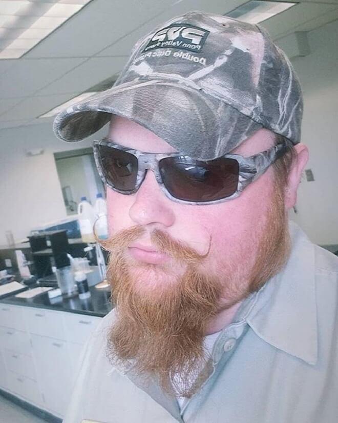 Handlebar Mustache with Long Goatee