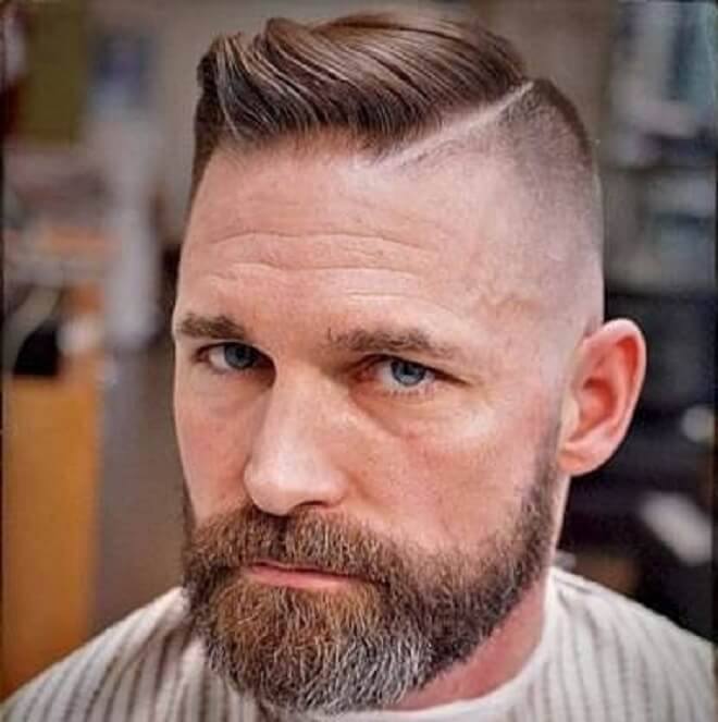 Hard Part Haircut with Side Swept