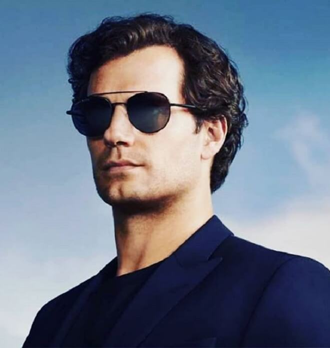 Henry Cavill Curly Wavy Hairstyle