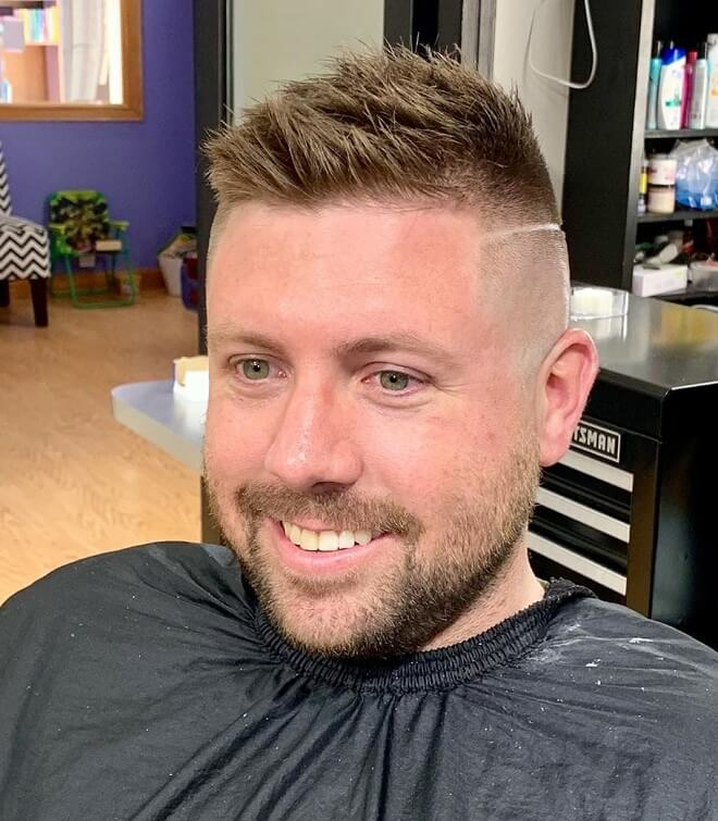 High Bald Fade with Textured Spiky Hair